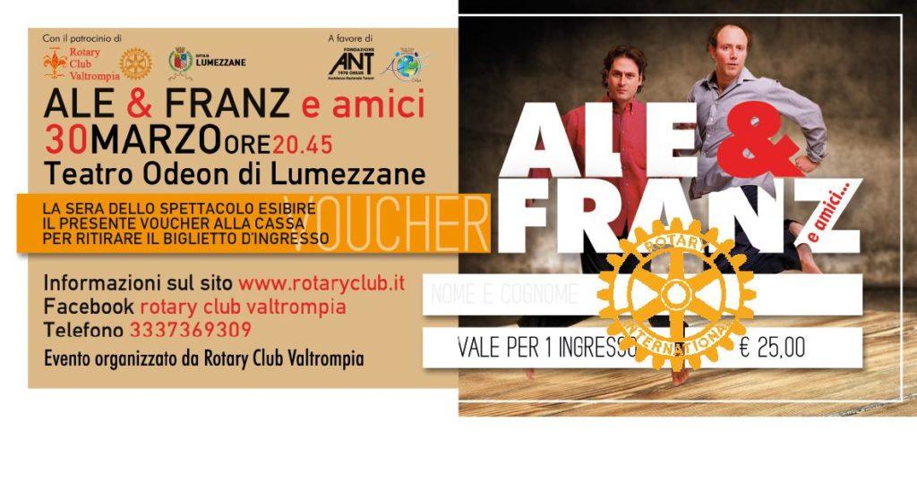 """Come e dove comprare i biglietti dello spettacolo """"Ale&Franz e amici"""""""